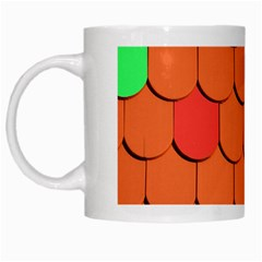 Roof Brick Colorful Red Roofing White Mugs by Onesevenart