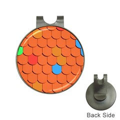 Roof Brick Colorful Red Roofing Hat Clips With Golf Markers by Onesevenart
