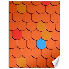 Roof Brick Colorful Red Roofing Canvas 12  X 16   by Onesevenart