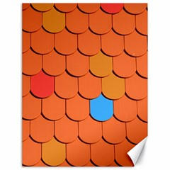 Roof Brick Colorful Red Roofing Canvas 18  X 24   by Onesevenart
