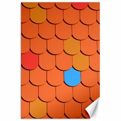 Roof Brick Colorful Red Roofing Canvas 20  X 30   by Onesevenart