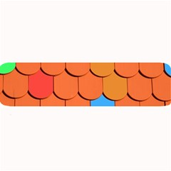 Roof Brick Colorful Red Roofing Large Bar Mats by Onesevenart