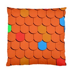 Roof Brick Colorful Red Roofing Standard Cushion Case (two Sides) by Onesevenart