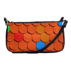 Roof Brick Colorful Red Roofing Shoulder Clutch Bags by Onesevenart