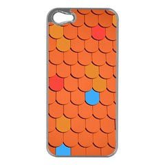 Roof Brick Colorful Red Roofing Apple Iphone 5 Case (silver) by Onesevenart