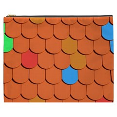 Roof Brick Colorful Red Roofing Cosmetic Bag (xxxl)  by Onesevenart