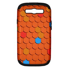 Roof Brick Colorful Red Roofing Samsung Galaxy S Iii Hardshell Case (pc+silicone) by Onesevenart