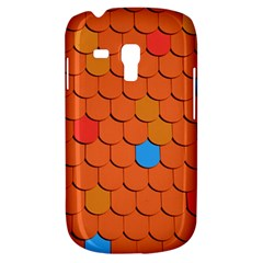 Roof Brick Colorful Red Roofing Galaxy S3 Mini by Onesevenart