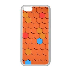 Roof Brick Colorful Red Roofing Apple Iphone 5c Seamless Case (white) by Onesevenart