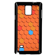 Roof Brick Colorful Red Roofing Samsung Galaxy Note 4 Case (black) by Onesevenart