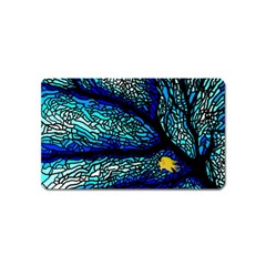 Sea Fans Diving Coral Stained Glass Magnet (name Card) by Onesevenart