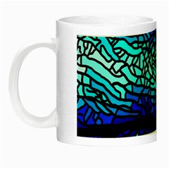 Sea Fans Diving Coral Stained Glass Night Luminous Mugs by Onesevenart