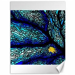 Sea Fans Diving Coral Stained Glass Canvas 36  X 48   by Onesevenart