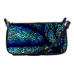 Sea Fans Diving Coral Stained Glass Shoulder Clutch Bags by Onesevenart