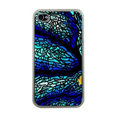 Sea Fans Diving Coral Stained Glass Apple Iphone 4 Case (clear) by Onesevenart