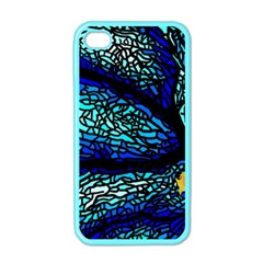 Sea Fans Diving Coral Stained Glass Apple Iphone 4 Case (color) by Onesevenart
