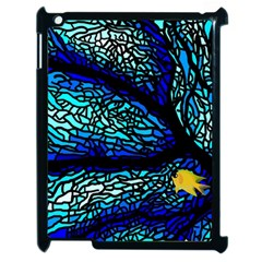 Sea Fans Diving Coral Stained Glass Apple Ipad 2 Case (black) by Onesevenart