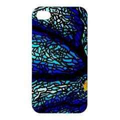 Sea Fans Diving Coral Stained Glass Apple Iphone 4/4s Premium Hardshell Case by Onesevenart