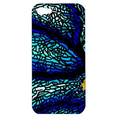 Sea Fans Diving Coral Stained Glass Apple Iphone 5 Hardshell Case by Onesevenart
