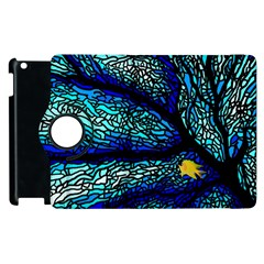 Sea Fans Diving Coral Stained Glass Apple Ipad 3/4 Flip 360 Case by Onesevenart