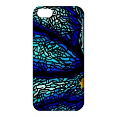 Sea Fans Diving Coral Stained Glass Apple Iphone 5c Hardshell Case by Onesevenart