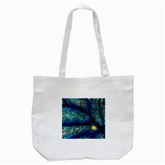 Sea Fans Diving Coral Stained Glass Tote Bag (white) by Onesevenart
