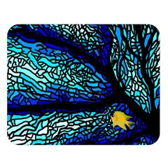 Sea Fans Diving Coral Stained Glass Double Sided Flano Blanket (large)  by Onesevenart