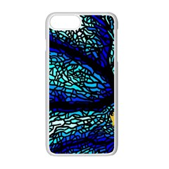 Sea Fans Diving Coral Stained Glass Apple Iphone 7 Plus White Seamless Case by Onesevenart