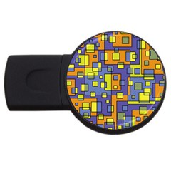 Square Background Background Texture Usb Flash Drive Round (2 Gb) by Onesevenart