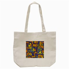 Square Background Background Texture Tote Bag (cream) by Onesevenart