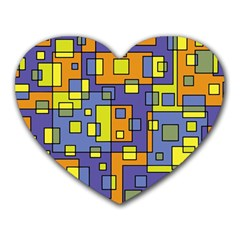 Square Background Background Texture Heart Mousepads by Onesevenart