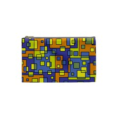 Square Background Background Texture Cosmetic Bag (small)  by Onesevenart