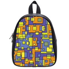 Square Background Background Texture School Bags (small)  by Onesevenart