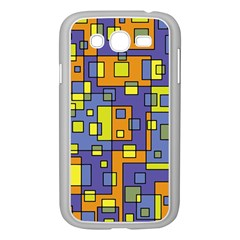 Square Background Background Texture Samsung Galaxy Grand Duos I9082 Case (white) by Onesevenart