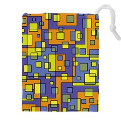 Square Background Background Texture Drawstring Pouches (xxl) by Onesevenart