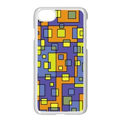 Square Background Background Texture Apple Iphone 7 Seamless Case (white) by Onesevenart