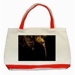 Smoke Fume Smolder Cigarette Air Classic Tote Bag (red) by Onesevenart