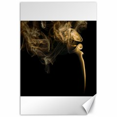 Smoke Fume Smolder Cigarette Air Canvas 20  X 30   by Onesevenart