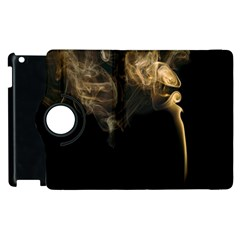 Smoke Fume Smolder Cigarette Air Apple Ipad 3/4 Flip 360 Case by Onesevenart