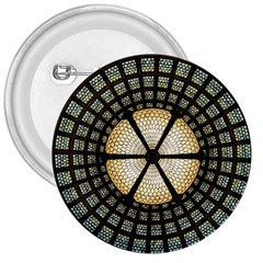 Stained Glass Colorful Glass 3  Buttons by Onesevenart