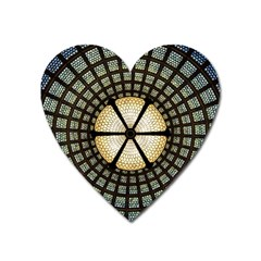 Stained Glass Colorful Glass Heart Magnet by Onesevenart
