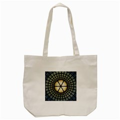 Stained Glass Colorful Glass Tote Bag (cream) by Onesevenart