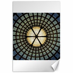 Stained Glass Colorful Glass Canvas 24  X 36  by Onesevenart