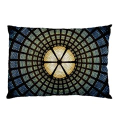 Stained Glass Colorful Glass Pillow Case by Onesevenart