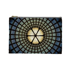 Stained Glass Colorful Glass Cosmetic Bag (large)  by Onesevenart