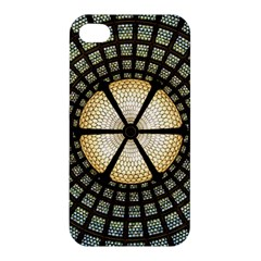 Stained Glass Colorful Glass Apple Iphone 4/4s Premium Hardshell Case by Onesevenart