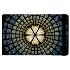 Stained Glass Colorful Glass Apple Ipad 2 Flip Case by Onesevenart