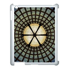 Stained Glass Colorful Glass Apple Ipad 3/4 Case (white) by Onesevenart