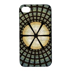 Stained Glass Colorful Glass Apple Iphone 4/4s Hardshell Case With Stand by Onesevenart