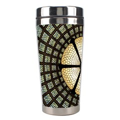 Stained Glass Colorful Glass Stainless Steel Travel Tumblers by Onesevenart